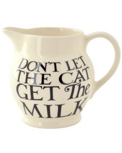 Emma Bridgewater Black Toast All Over Writing Half Pint Jug