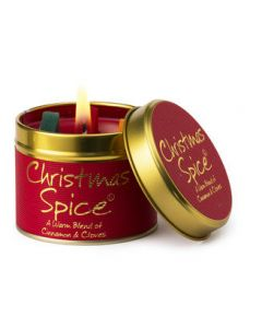 Lily Flame, Christmas Spice Scented Candle Tin