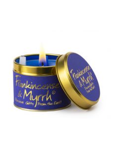 Lily Flame, Frankincense & Myrrh Scented Candle Tin