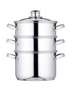 18CM THREE TIER STEAMER STAINLESS STEEL