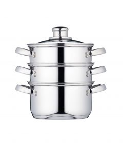 16CM THREE TIER STEAMER STAINLESS STEEL