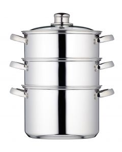 20CM THREE TIER STEAMER STAINLESS STEEL