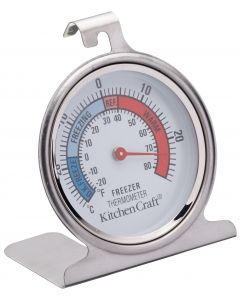 FRIDGE AND FREEZER THERMOMETER STAINLESS STEEL
