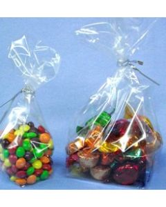 6 X 20CM CLEAR BLOCK BOTTOM CONFECTIONERY BAG